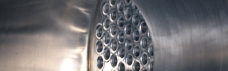 Header image of internally polished shell and tube heat exchanger